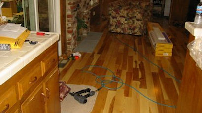Engineered Hickory flooring.