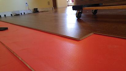 Laminate flooring.